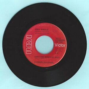 Make-The-World-Go-Away-I-Want-To-Go-With-You-Eddy-Arnold-RCA-Records-45RPM