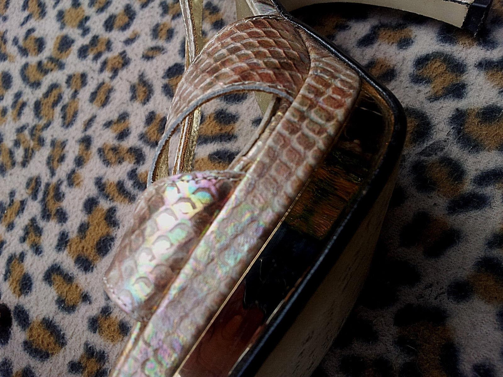 Relatori Multicolore Pelle Di Serpente Plateau Effetto   Con Plateau Serpente UK Taglia 6 EU 39 ad9390