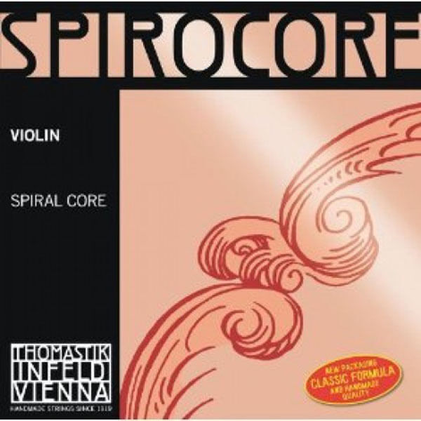 Spirocore Violin  String  Set  4 4 with Chrome  E Ball
