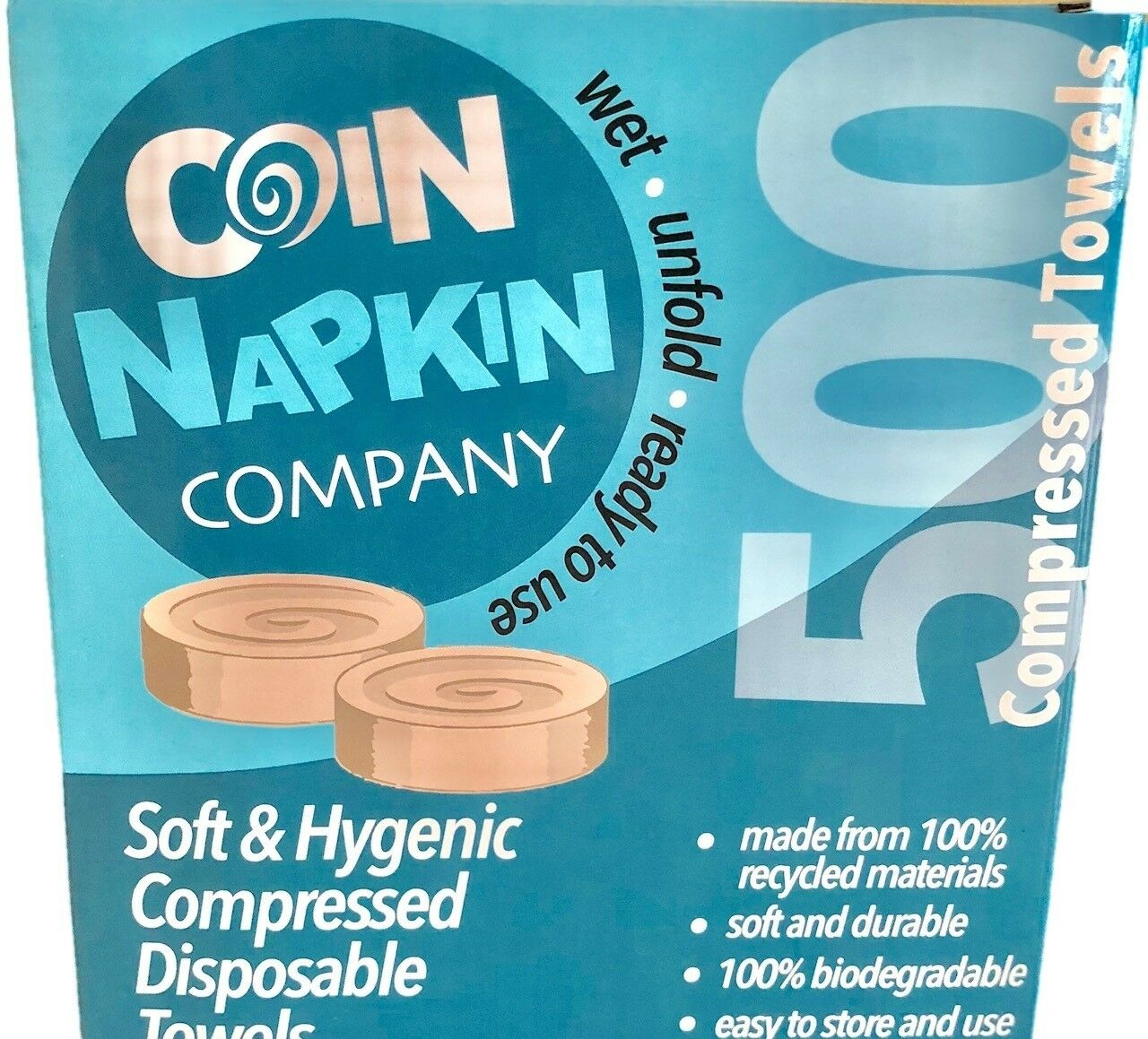Compressed disposable napkins tableware Linen Coin Wet tissue magic novelty new