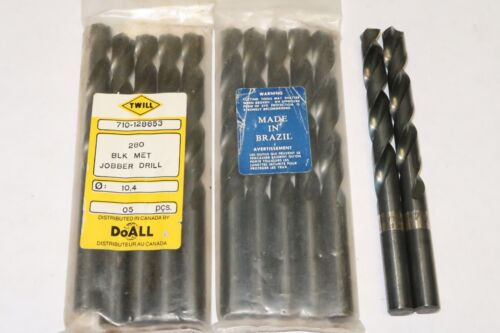 5 pcs TWILL 10.4mm Metric Jobber Length HSS Twist Drills Bits BRAZIL 10.4 M