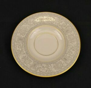 Franciscan Grey Renaissance Masterpiece China Saucer Ivory & Grey With Gold Trim