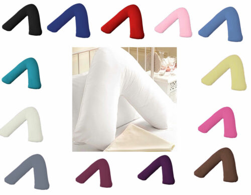 Orthopeadic-V Shaped Pillow Head Neck Back Support Free Pillow Case