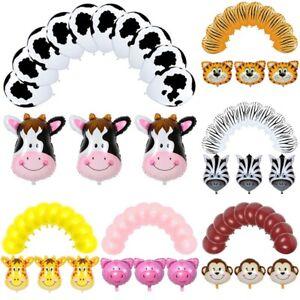 13pcs-Animal-Foil-Balloons-Kids-Decor-Farm-Theme-Birthday-Party-Baby-Shower