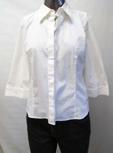 Tommy Hilfiger Neuwertig Damen Hemd Bluse 3 4 Arm Weiss M Usa Gr
