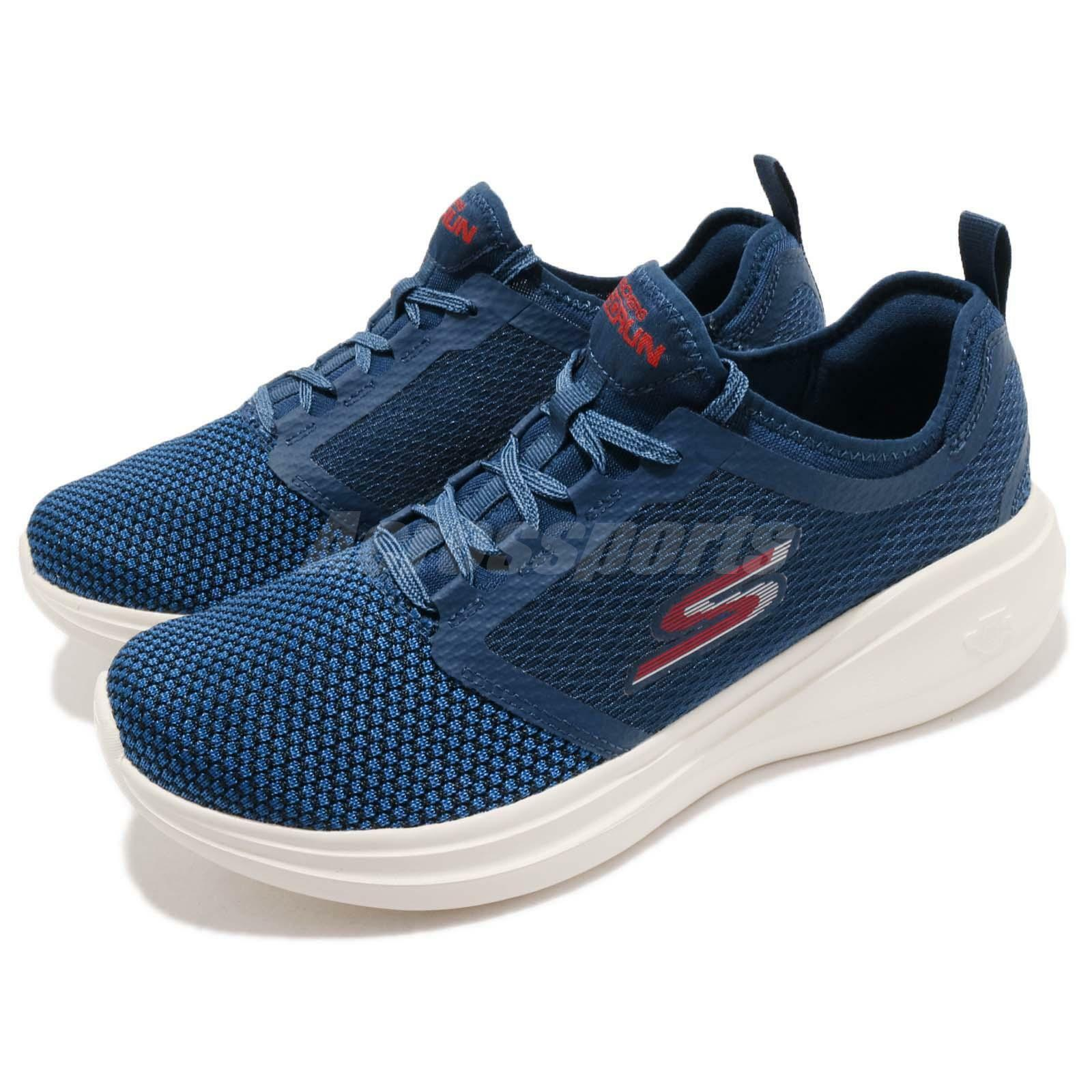Skechers Go Run Fast Invigorate Navy blueee Red White Men Running shoes 55102-NVRD