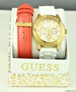 NWT-GUESS-Limited-Ladies-Watch-Rubber-Leather-New-U0422L2-Pristine-Fresh