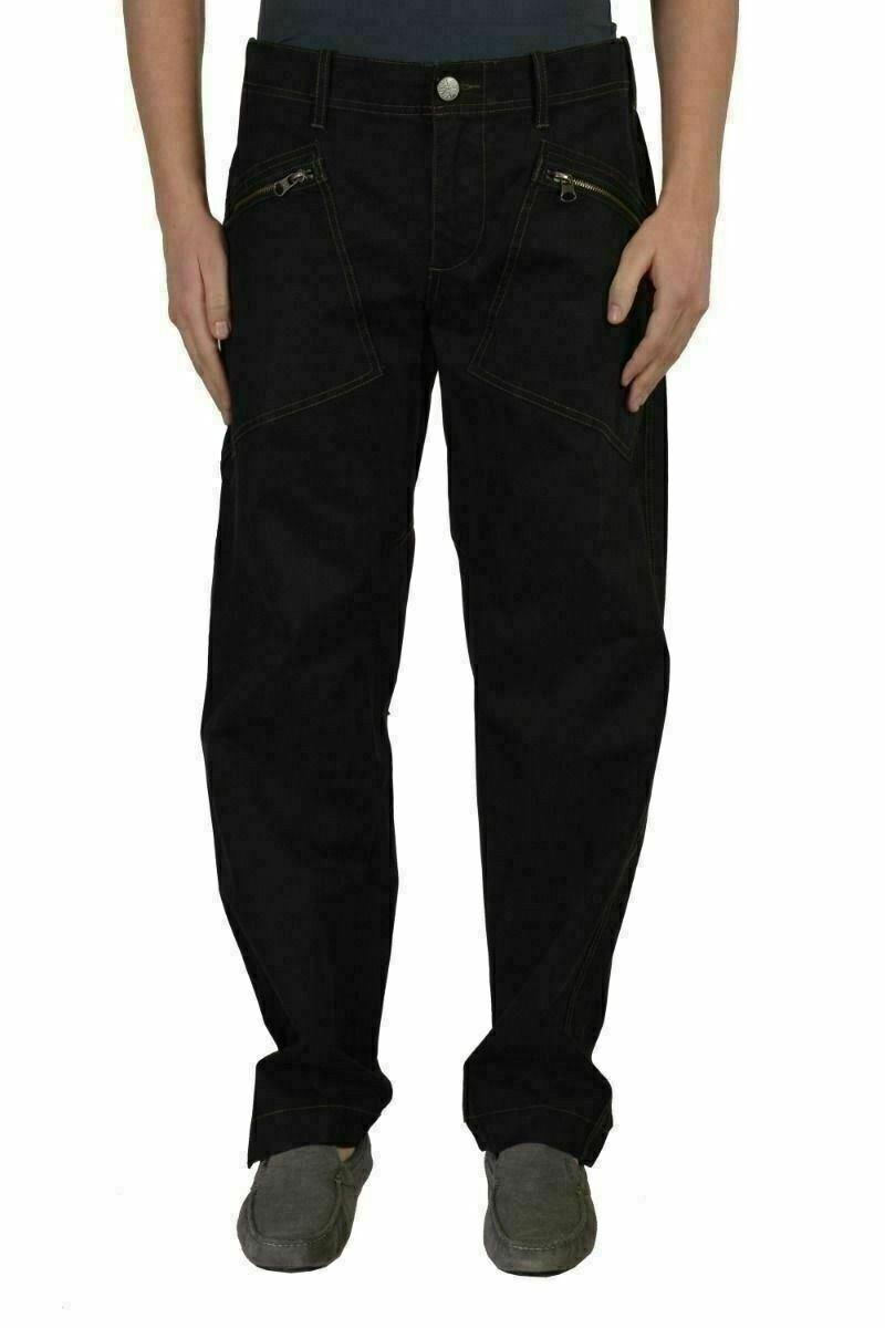 Armani Jeans Uomo Nero Casual Pantaloni Misura USA 32 Eu 48