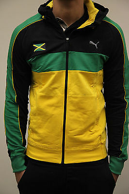 Puma Jamaica Faas Hooded Jacket Spectra Yellow Black Tn9922 Mens Usain Bolt Mens Ebay