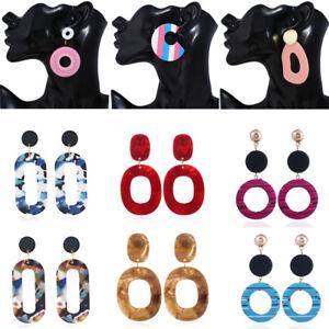 Fashion-Acrylic-Resin-Geometric-Dangle-Drop-Statement-Earrings-Women-Jewelry