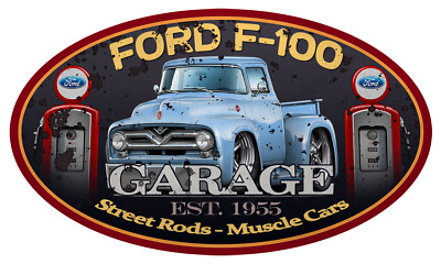 1956 Ford F-100 Pickup Truck Car-toon No Parking Sign NEW