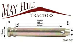 """Working Length 116mm 7//8/"""" 152mm. Length Tractor Cat 1 Lower Link Pin Ø"""
