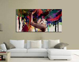 Quadri moderni tela canvas klimt passione love casa living for Immagini living moderni