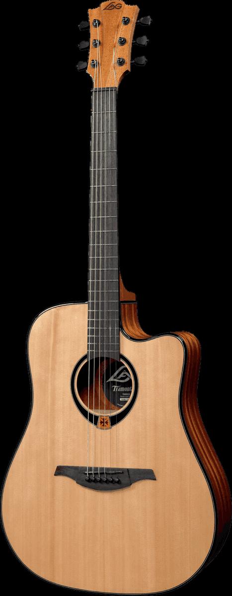 Lag Guitare electro-acoustique folk T80-DCE Preampli Lag avec accordeur intégré