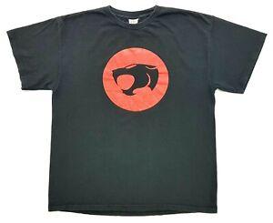 Vintage Thundercats Logo Tee Black Size L Mens T-Shirt 1999