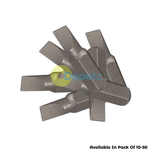 10x Quality 6mm Slotted Screwdriver Bits Inserts CR/_V Steel Flathead Magnetic
