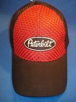 Peterbilt Hat : Red Honeycomb Front / Mesh Back Free Shipping