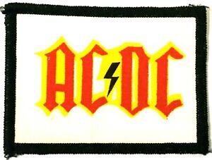 AC-DC-Old-OG-Vtg-70-80-s-Printed-Patch-Sew-On-NOT-shirt-badge-Aufnaher