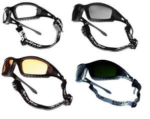 Bolle Tracker II Safety Glasses Goggles - Anti Mist & Scratch + Case Bag