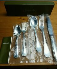 CHRISTOFLE MALMAISON Silver-Plated 60pc total! 5pc Place Setting New and Sealed!