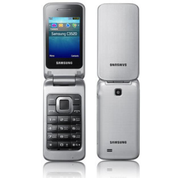 samsung gt c3520 silber metallic ohne simlock handy ebay. Black Bedroom Furniture Sets. Home Design Ideas