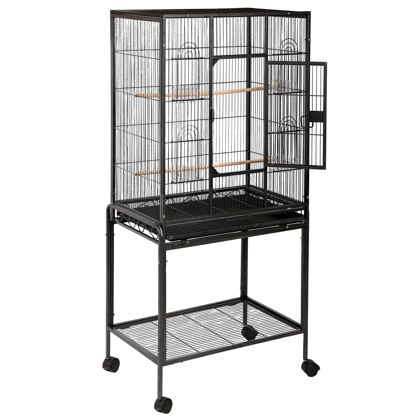 68 large parrot bird cage play top canary parakeet pet supplies w perch stand ebay. Black Bedroom Furniture Sets. Home Design Ideas