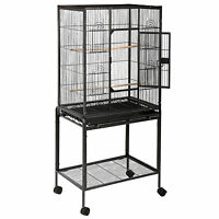 53 Large Parrot Bird Cage Cockatiel Lovebird Finch Feeder Stand Play Top House