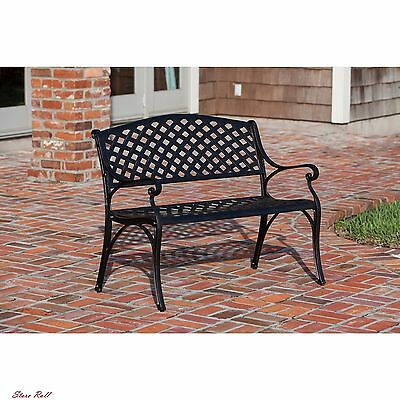 Tremendous Cast Aluminum Bench Metal Garden Patio Furniture Accessories Outdoor Lawn Porch 690730614914 Ebay Caraccident5 Cool Chair Designs And Ideas Caraccident5Info