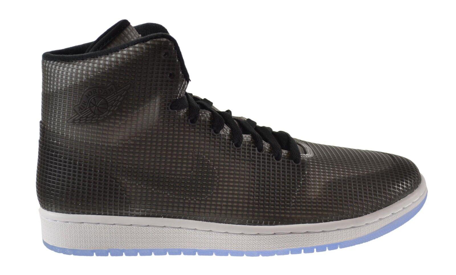 Air Jordan 4 Lab 1 Men's Shoes Black/Reflect Silver-White 677690-012