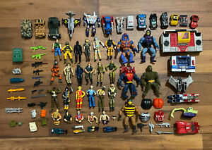 Vintage Toy Lot G.I. Joe He Man Transformers G-1 Figures Accessories Guns