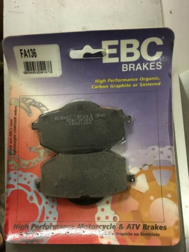 EBC Yamaha XV535 Virago 88-94 Organic Brake Pads FA136