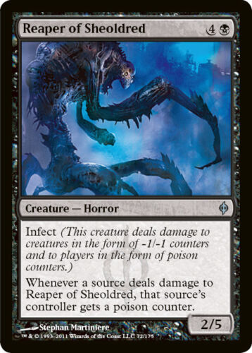 x 1 New Phyrexia Magic the Gathering MTG 1x Reaper of Sheoldred x1 LP//LP