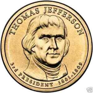 Sensible Usa: 1 Dolar 2007 P - 3º. Presidente Thomas Jefferson 50% De RéDuction