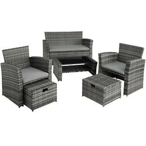 Dettagli Su Salottino In Rattan Mobili Lounge Giardino Set D Arredo Balcone Terrazza Esterno