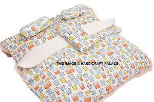 Hand Block Print Quilt Baby Quilt Baby Wrap Baby Throw Blanket Full
