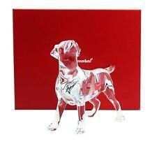 """BACCARAT CHIEN LABRADOR DOG CLEAR CRYSTAL FIGURINE 5,5"""" TALL NEW MADE IN FRANCE"""