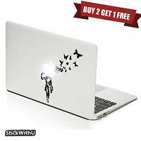 Macbook Air Pro Skin Sticker Decal Banksy Graffiti Art Suicide Butterflies m330