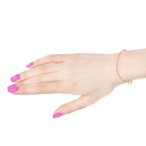 Argent sterling bicolore rose et blanc lune-Cut Station Bead Italien Bracelet 7