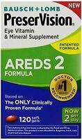 2 Pack - Preservision Areds 2 Vitamin - Mineral Supplement, Soft Gels 120 Each