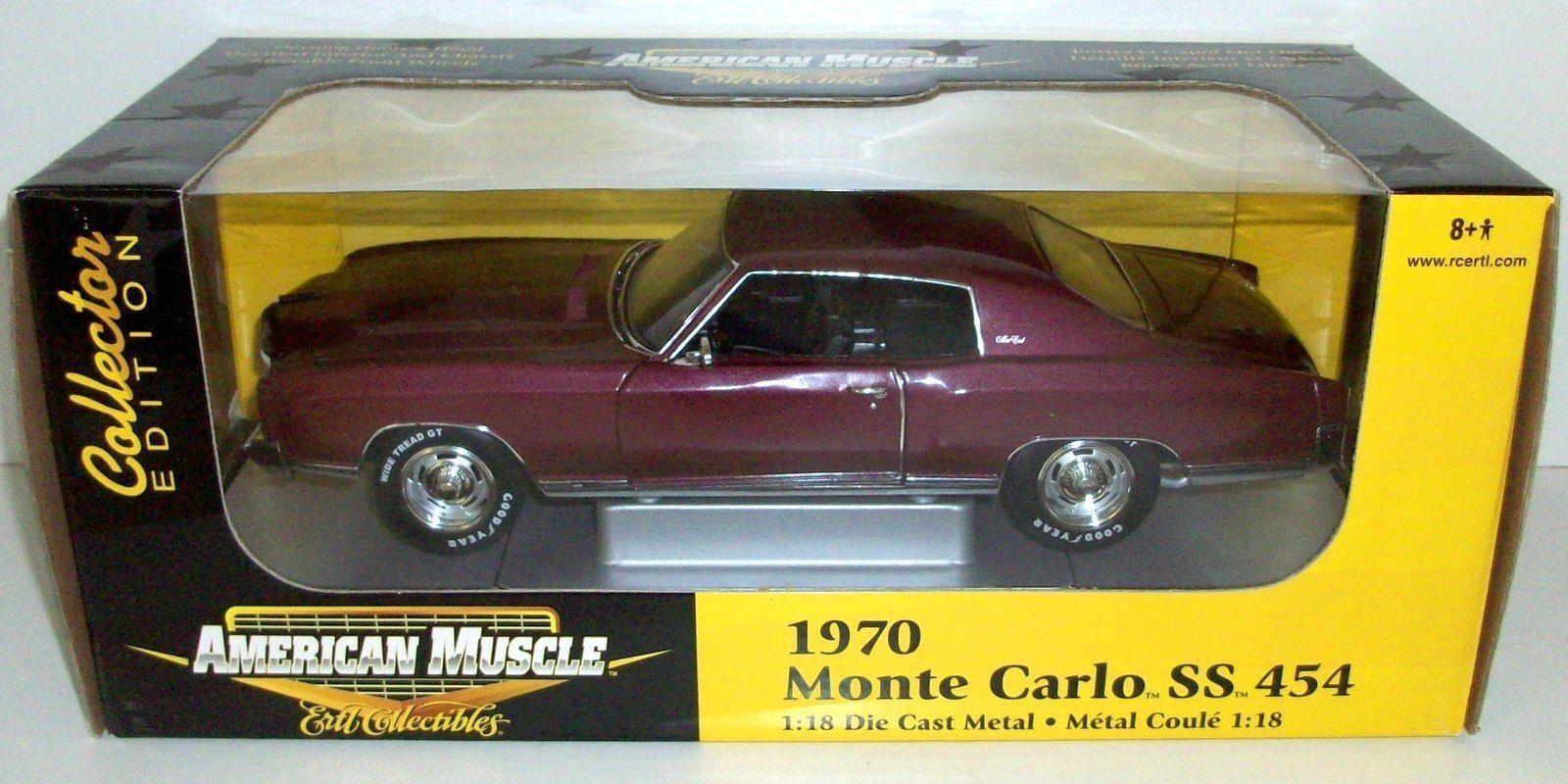 ERTL 1 18 - 33772 1970 MONTE MONTE MONTE CARLO SS 454 -  DARK rouge 6533c5