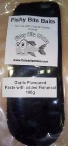 garlic flavour paste bait by fishy bits baits for coarse carp