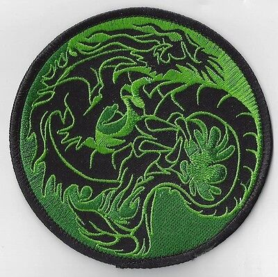 4 INCH GREEN DRAGON IRON ON PATCH  buy 2 get 1 free = 3 OF THESE
