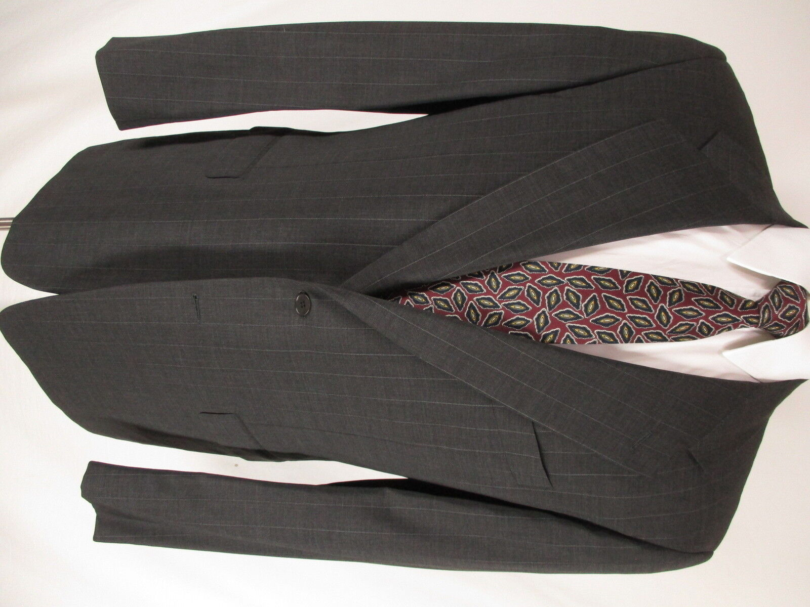 Pal Zileri Mens Charcoal Stripe 2 Btn Cerruti 1881 S120s Suit 42R  Made