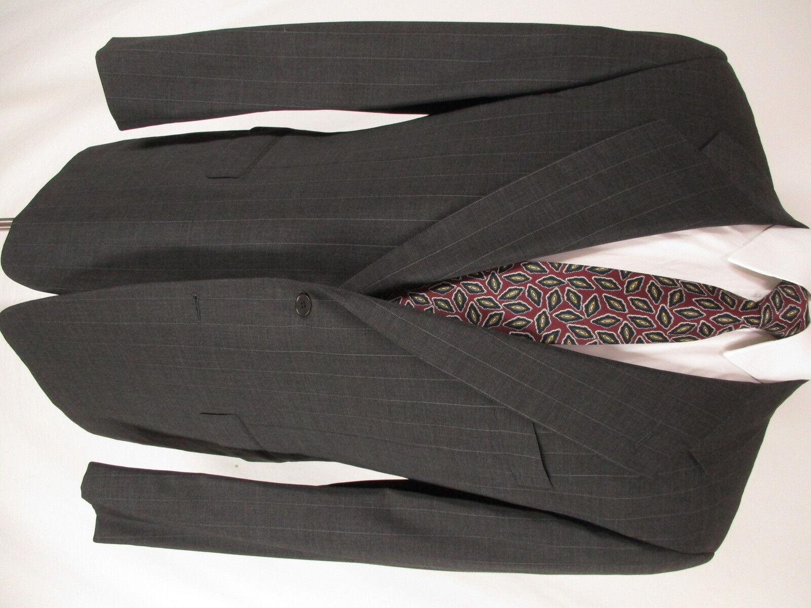 Pal Zileri  Herren Charcoal Stripe 2 Btn Cerruti 1881 S120s Suit 42R  Made