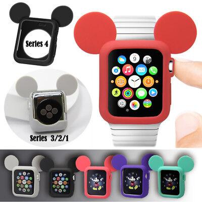 COPERTURA per iWatch Carino TOPOLINO ORECCHIE Custodia per Apple Watch 4 3 2 Series 1 TPU | eBay