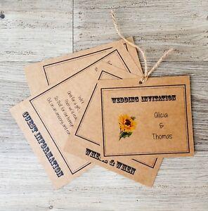 Personalised-Vintage-Sunflower-Wedding-Invitations-RSVP-Envelopes