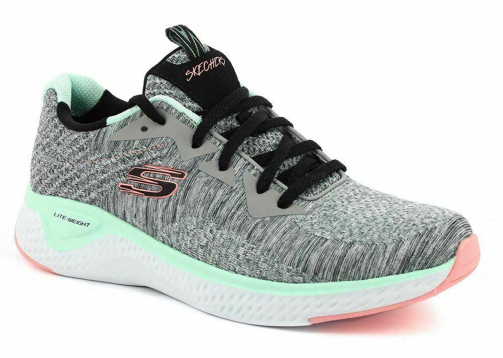 Schuhe Skechers 13328   Gymt Solar Fuse-Risk Escape Grau   Multy Frau Mode