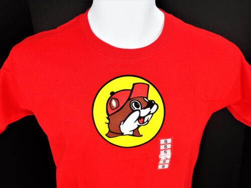 "Youth Small Beaver Buc-ee's Red T Shirt ""No Worries"" New NWT Texas Gas"