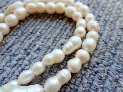 8x15mm Irregular Freshwater Pearl Nugget Gemstone Beads - Half Strand, 7.5""
