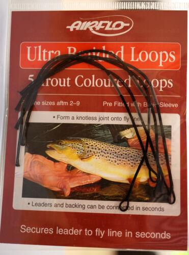 AIRFLO Ultra Braided Loops 5 Stück Schnurklasse #2 #9 TROUT SINKING BLACK